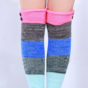 Multi color leg warmers